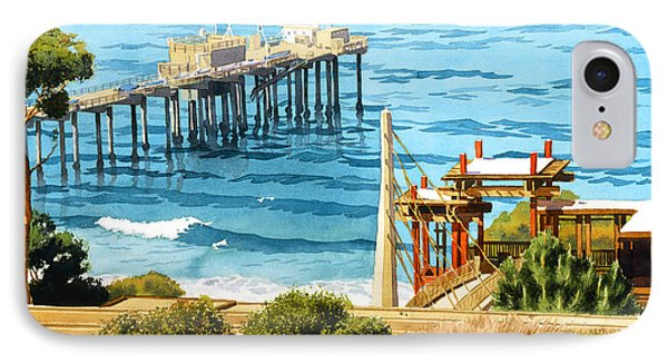 Scripps Pier La Jolla IPhone Case by Mary Helmreich