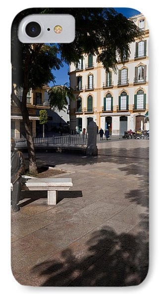 Scupture Of Picasso On The Plaza De La IPhone Case by Panoramic Images