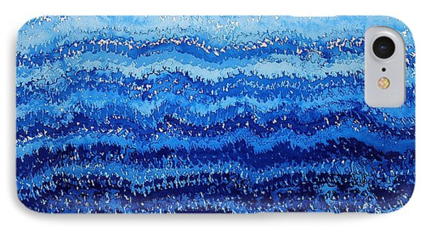 Sea And Sky Original Painting Phone Case by Sol Luckman