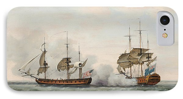 Sea Battle IPhone Case by Francis Holman