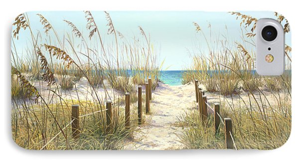 Sea Oat Path IPhone Case by Laurie Hein