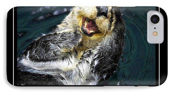 Sea Otter Motivational  Phone Case by Fabrizio Troiani