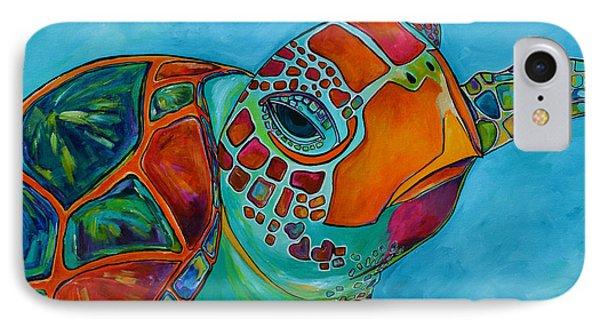 Seaglass Sea Turtle IPhone Case by Patti Schermerhorn