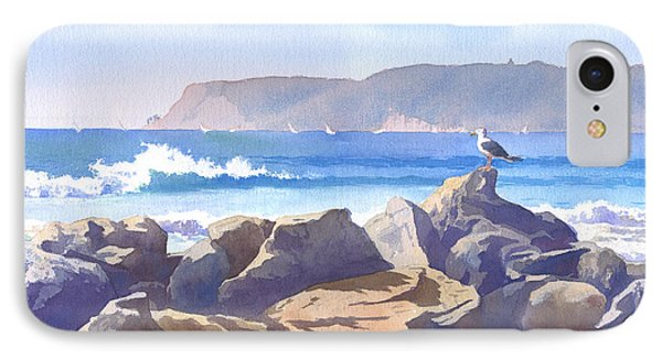 Seagull And Point Loma IPhone Case by Mary Helmreich