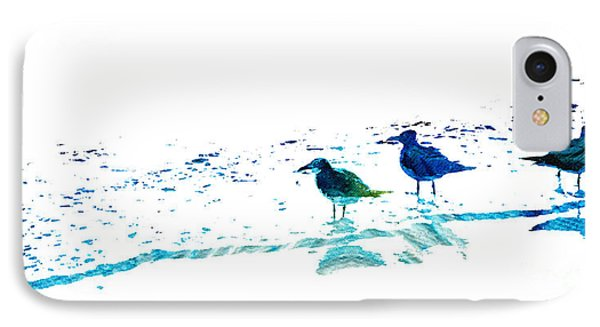 Seagull Art - On The Shore - By Sharon Cummings IPhone 7 Case by Sharon Cummings