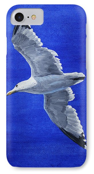 Seagull In Flight IPhone Case by Crista Forest