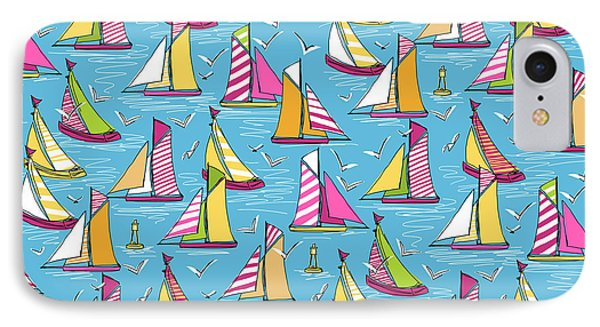 Seagulls And Sails Springtime IPhone Case by Sharon Turner