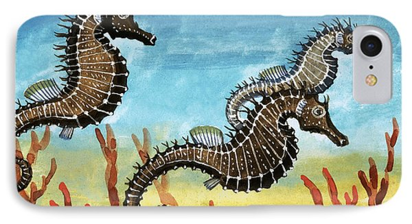 Seahorses IPhone 7 Case by English School