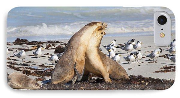 Seal Beach Battle IPhone Case by Mike Dawson