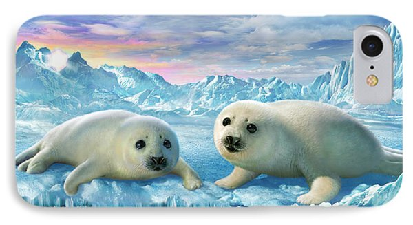 Seal Pups IPhone Case by Adrian Chesterman