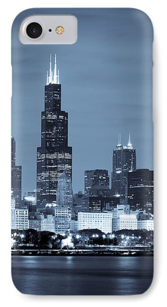 Sears Tower In Blue Phone Case by Sebastian Musial