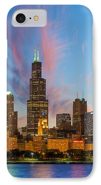 Sears Tower Sunset IPhone Case by Sebastian Musial