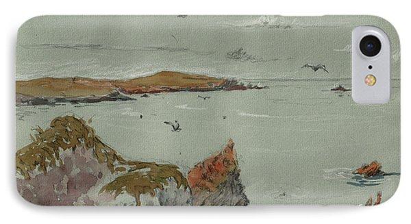 Seascape Atlantic Ocean IPhone Case by Juan  Bosco