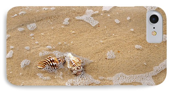 Seashells And Bubbles Phone Case by Kaye Menner