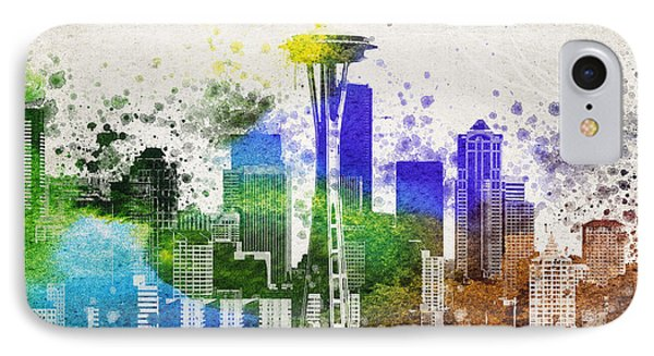 Seattle City Skyline IPhone Case by Aged Pixel