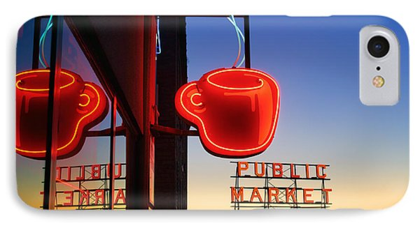 Seattle Coffee IPhone Case by Inge Johnsson