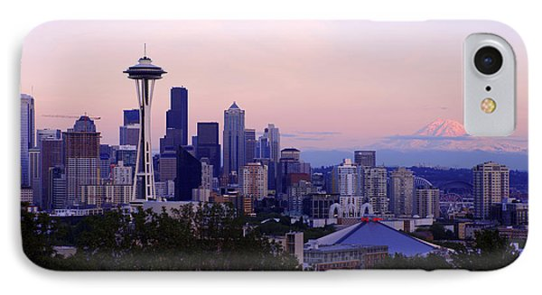Seattle Dawning IPhone Case by Chad Dutson