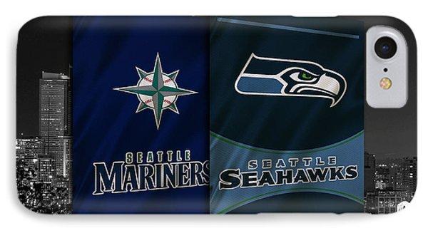 Seattle Sports Teams IPhone Case by Joe Hamilton