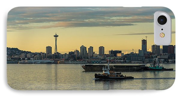 Seattles Working Harbor IPhone Case by Mike Reid