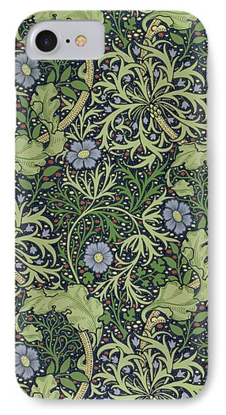 Seaweed Wallpaper Design IPhone Case by William Morris