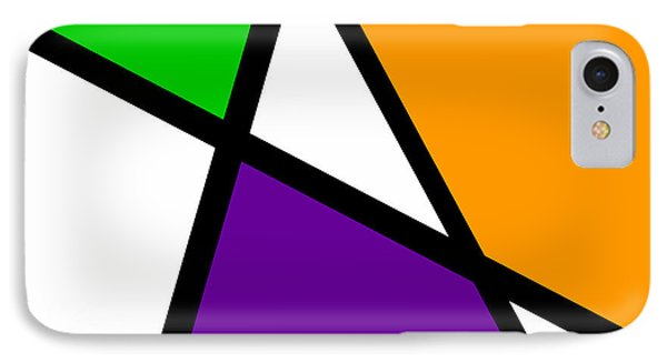 Secondary Triangularism I IPhone Case by Richard Reeve