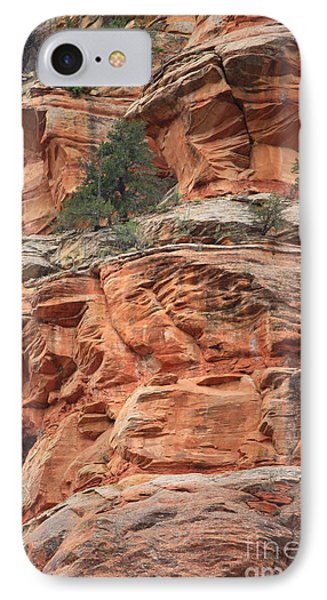 Sedona Sandstone Cliff IPhone Case by Carol Groenen