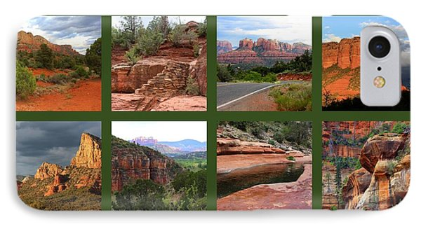 Sedona Spring Collage IPhone Case by Carol Groenen