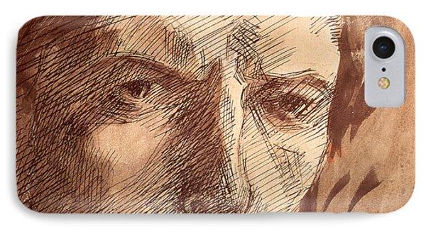 Self Portrait IPhone Case by Umberto Boccioni