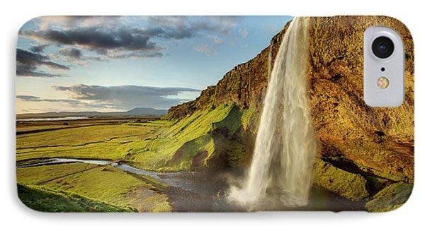 Seljalandsfoss Iceland Phone Case by Peter OReilly