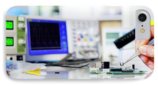 Semiconductor IPhone Case by Wladimir Bulgar