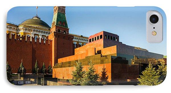 Senate Tower And Lenin's Mausoleum Phone Case by Alexander Senin
