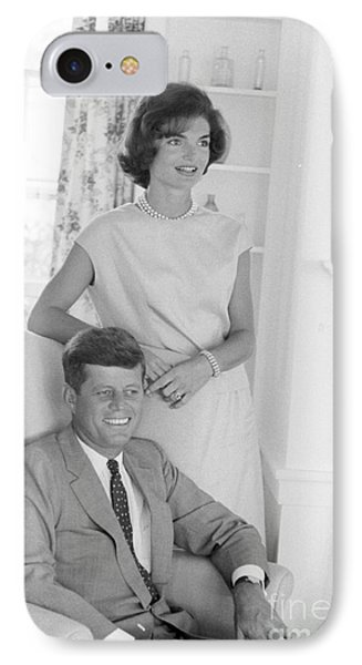 Senator John F. Kennedy And Jacqueline At Hyannis Port 1959 IPhone Case by The Harrington Collection
