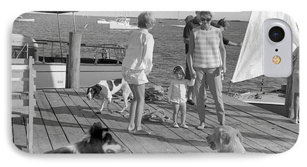 Senator John F. Kennedy And Jacqueline At The Marina IPhone Case by The Harrington Collection