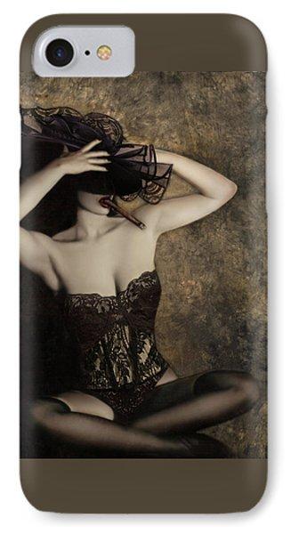 Sensuality In Sepia - Self Portrait IPhone Case by Jaeda DeWalt