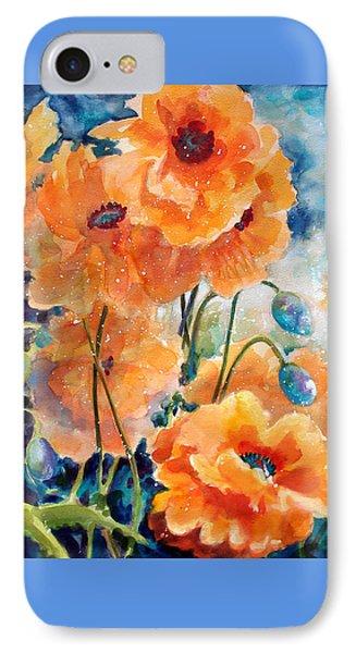 September Orange Poppies            IPhone Case by Kathy Braud