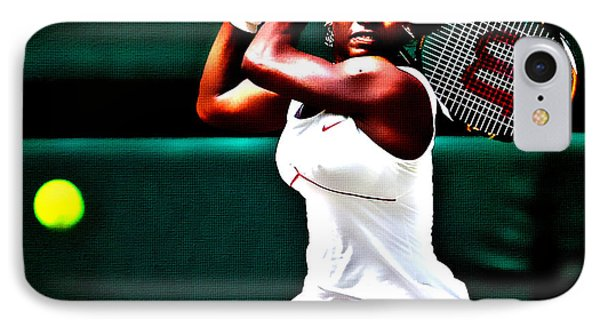 Serena Williams 3a IPhone Case by Brian Reaves