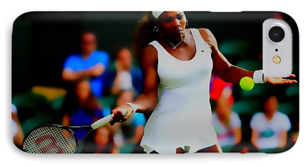 Serena Williams Making It Look Easy IPhone Case by Brian Reaves