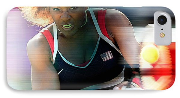 Serena Williams IPhone Case by Marvin Blaine