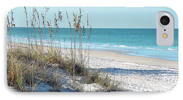 Serene Florida Beach Scene Phone Case by Rebecca Brittain