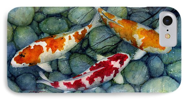 Serenity Koi IPhone 7 Case by Hailey E Herrera