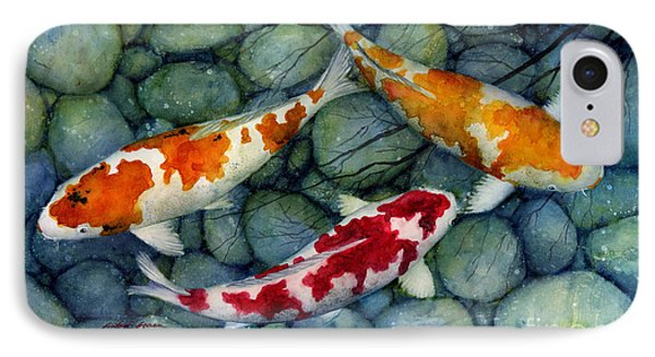 Serenity Koi IPhone Case by Hailey E Herrera