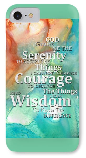 Serenity Prayer 1 - By Sharon Cummings IPhone Case by Sharon Cummings