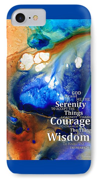 Serenity Prayer 4 - By Sharon Cummings IPhone Case by Sharon Cummings