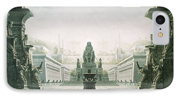 Set Design For Last Scene Of The Magic Flute By Wolfgang Amadeus Mozart 1756-91  IPhone Case by Karl Friedrich Schinkel