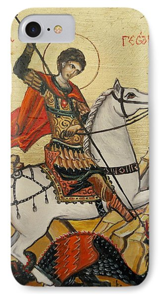Sf. George And The Dragon IPhone Case by Sorin Apostolescu