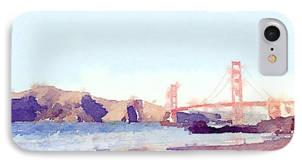 Sf Watercolor IPhone Case by Ariane Moshayedi