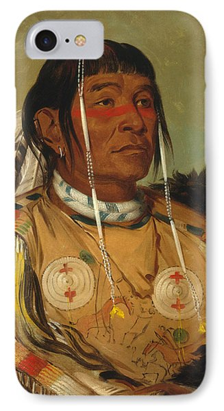 Sha-co-pay. The Six. Chief Of The Plains Ojibwa IPhone Case by George Catlin