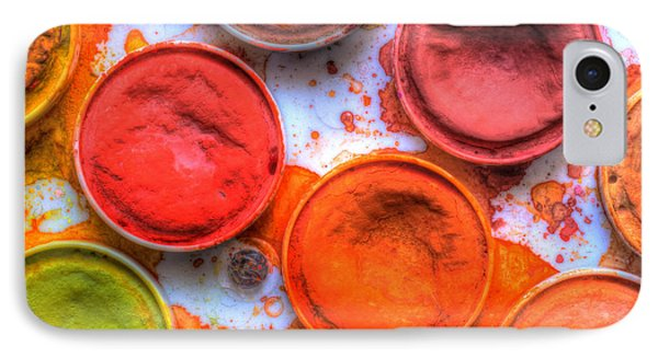 Shades Of Orange Watercolor Phone Case by Heidi Smith