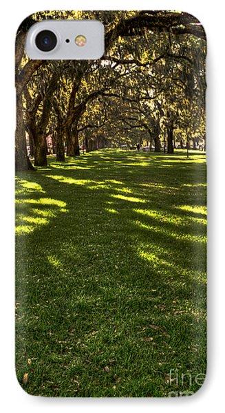 Shadows Of Emmet Park Savannah IPhone Case by Reid Callaway