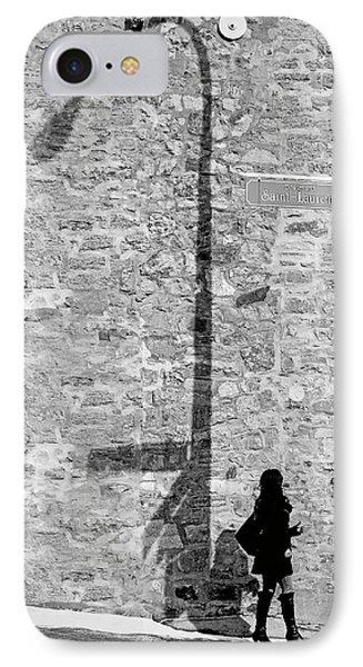 Shadows On St-laurent IPhone Case by Valerie Rosen